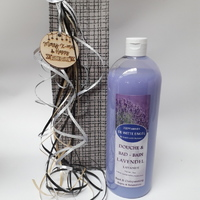 Kerstgeschenk: 1L douche & badolie met lavendelolie