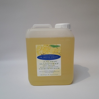 Zachte handzeep met een frisse, hypoallergene Citroengeur 2.5l