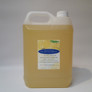 Zachte handzeep met een frisse, hypoallergene Citroengeur 5l