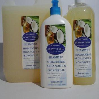 Shampoo met kokosolie en arganolie en QUINOA